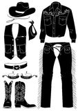 De kleren van de cowboy. Het leven van het westen Royalty-vrije Illustratie