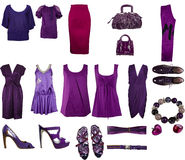 De kleren van de inzameling Stock Afbeeldingen