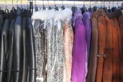 De kleren van het leer royalty-vrije stock foto's