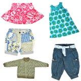 De kleren van het meisje van de baby Stock Afbeelding