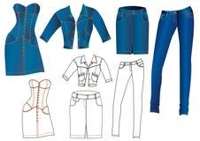 De kleren van jeans Stock Afbeelding