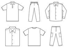 De kleren van Menâs stock illustratie