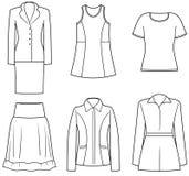 De kleren van Womenâs vector illustratie