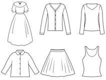 De kleren van Womenâs stock illustratie
