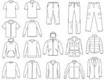 De klerenillustratie van Menâs Stock Foto