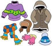 De klereninzameling 2 van de winter vector illustratie