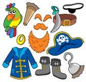 De klereninzameling van de piraat Stock Foto