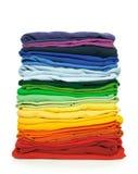 De klerenstapel van de regenboog Royalty-vrije Stock Fotografie