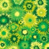 De kleur barstte geel en groen patroon Stock Foto's