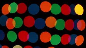 De kleur defocused lichten stock videobeelden