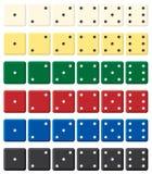 De kleur dobbelt reeks. Royalty-vrije Stock Afbeeldingen