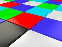 De kleur geïsoleerdec kubussen royalty-vrije illustratie