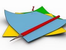 De kleur geïsoleerdeo document pamfletten stock fotografie