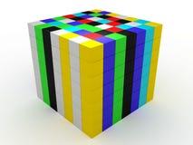 De kleur geïsoleerdes kubussen royalty-vrije illustratie