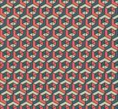 De kleur kubeert patroon Stock Foto's