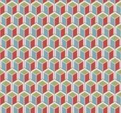 De kleur kubeert patroon Stock Foto