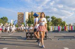 De Kleur loopt - Mamaia 2015, Roemenië Royalty-vrije Stock Afbeeldingen