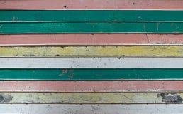 De kleur schilderde de oude houten lichte textuur van de pastelkleurraad achtergrond, textuur van de close-up de witte en blauwe  stock fotografie