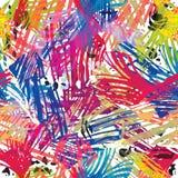 De kleur schildert naadloos patroon. Royalty-vrije Stock Afbeelding