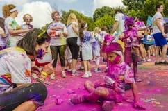 De Kleur stelt Boekarest in werking Stock Foto's