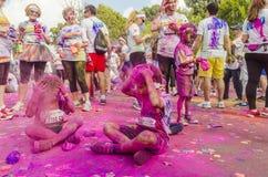 De Kleur stelt Boekarest in werking stock fotografie