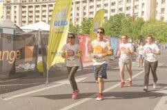 De Kleur stelt Boekarest in werking Stock Afbeelding