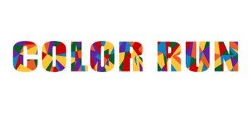 De kleur stelt Tekst Abstracte Grafische Pret in werking Als achtergrond Royalty-vrije Stock Afbeelding