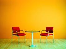 De kleur stelt Twee Zetels in de schaduw Stock Fotografie