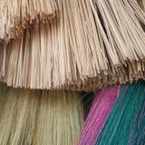 De Kleur van de Bamboebezem Royalty-vrije Stock Fotografie