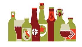 De Kleur van de bierrij Royalty-vrije Stock Foto