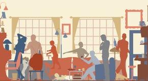 De kleur van de familie royalty-vrije illustratie
