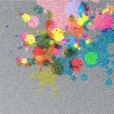 De kleur van de inkt op stoffentextuur stock illustratie