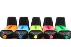 De kleur van de pen Stock Foto's