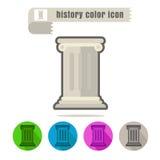 De kleur van de pictogramgeschiedenis op witte achtergrond Royalty-vrije Stock Foto
