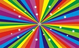 De kleur van de regenboog Stock Foto
