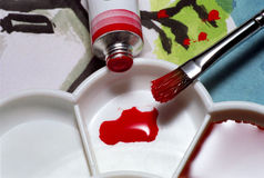 De Kleur van de verf Stock Afbeelding