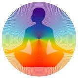 De kleur van de yoga Stock Foto's