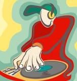 De kleur van DJ stock illustratie