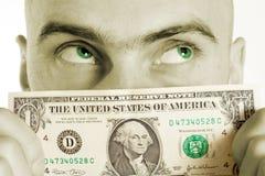 De kleur van Geld Stock Foto's