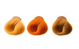De kleur van het haarlok Stock Foto's