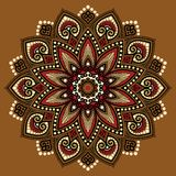 De kleur van het Mandalapatroon Royalty-vrije Stock Foto's