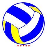 De kleur van de het pictogramillustratie van de volleyballbal vult stijl Royalty-vrije Stock Foto's
