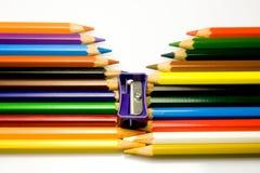 De kleur van het potlood Royalty-vrije Stock Afbeeldingen