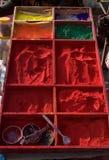 De kleur van India, Nepal Stock Foto's