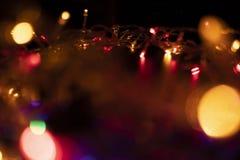 De kleur van de lichte flitsensinaasappel in de vorm van Bokeh royalty-vrije stock fotografie