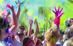 De kleur van Minneapolis met deelnemers in werking die wordt gesteld die Stock Foto