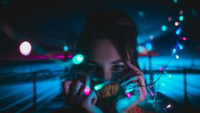 De kleur van nacht stock foto's