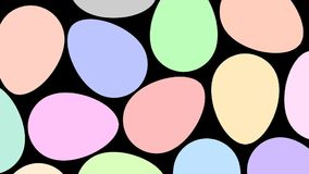 De kleur van de paaseierenverandering van wit tot kleurrijk vector illustratie