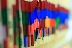 De kleur voorzag Medische Verslagen van labels Royalty-vrije Stock Foto