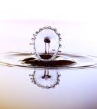 De kleur waterdrops komt elkaar in botsing Royalty-vrije Stock Foto